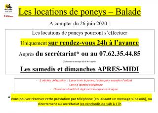 LOCATION DE PONEY - SUR RÉSERVATION